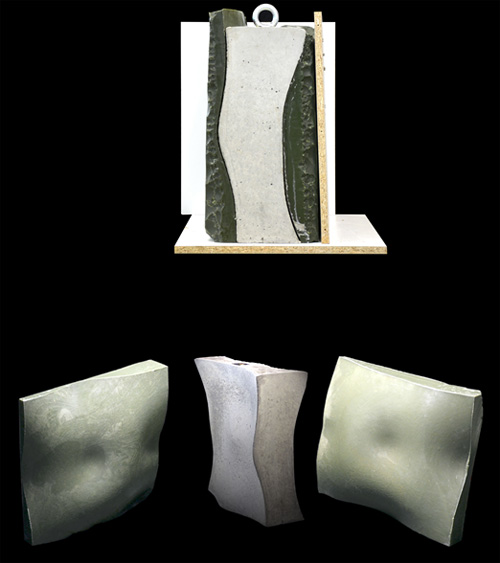 Full Process Prototype: Two-sided Free-form (Double Curved) Concrete cast with corresponding Wax Formwork