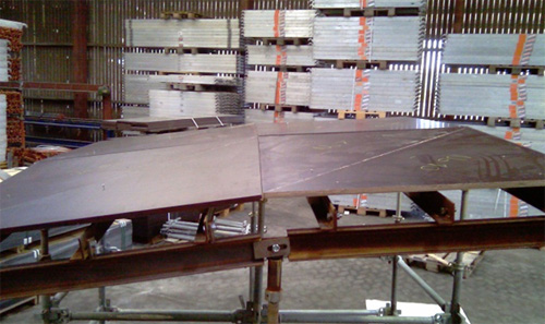 A mock-up of the Multi-edge Formwork