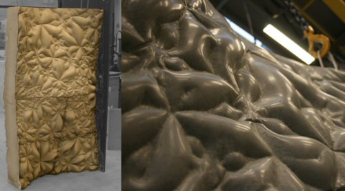 Prototype cast using the Milled Formwork showing the possiblities for smooth surfaces and advanced reliefs